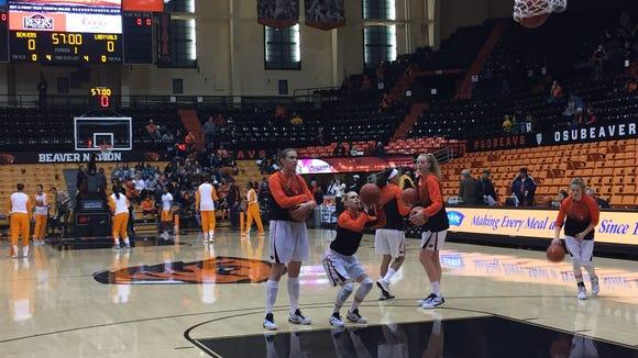 Pregame: Oregon State vs. Tennessee in women's college basketball.