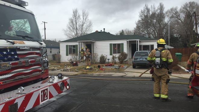 A house fire in Sparks on Dec. 21, 2015 was caused by an improperly discarded cigarette.