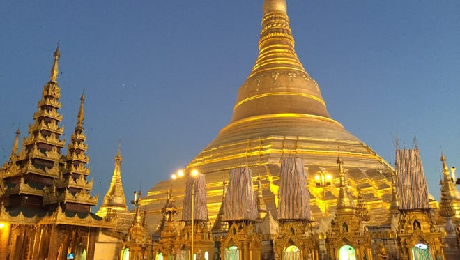 Before heading to the Avalon Myanmar, passengers spend two nights in Burma's main city, Yangon, visiting such iconic sites as the 325-foot-tall Shwedagon Pagoda.