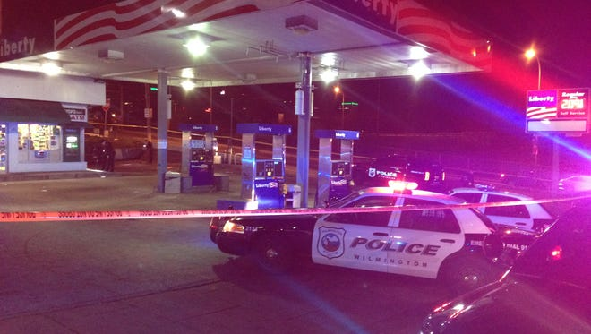 A 35-year-old man was arrested after police say he shot a man inside a Wilmington gas station.