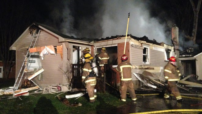 Rescue crews responded to a house fire in Port Huron Township this afternoon.