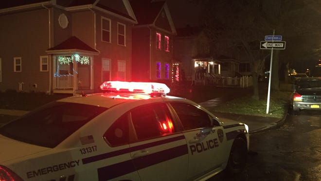 Rochester police investigate a shooting on Evergreen Street on Wednesday night.
