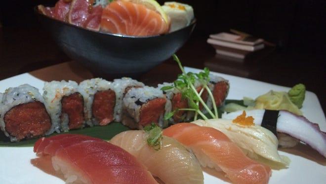 Sushi and sashimi platter for one at Wasabi Chi, $21.95