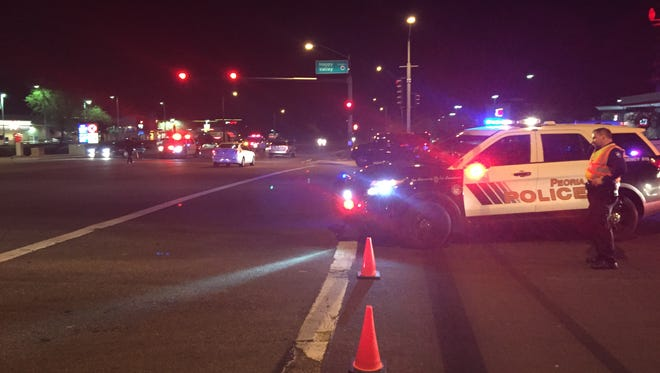 Peoria police are investigating a suspect road-rage incident that resulted in one driver being shot Wednesday, Dec. 30, 2015.