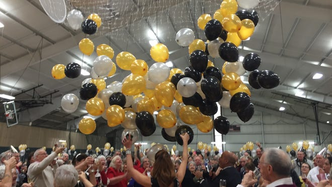 Counting down to 2016, seniors at the Sandusky YMCA were welcomed with a balloon drop when the clock struck noon during the 'Noon Year' celebration.