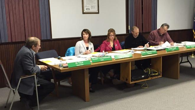 The Riley Township regular board meeting on Tuesday, Jan. 5. Clerk Sue Chmielewski was not present.