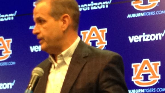 Kevin Steele answers questions from the media on Tuesday,