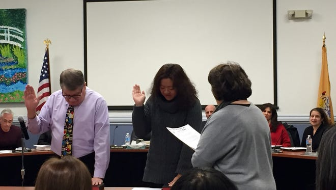 Two newcomers were sworn into the Marlboro School Board Tuesday