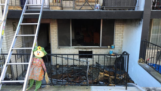 A fire gutted this basement apartment Wednesday in the Baldwin Manor complex. in Parsippany.
