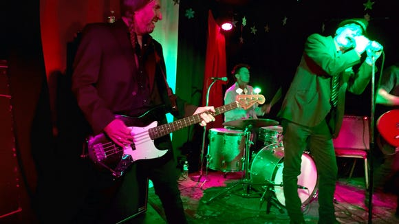 My brother Danny on bass, playing with the Nova Boys