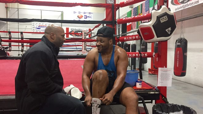 "Brooklyn's Jarrell ""Big Baby'' Miller, who has been training at Rochester's Fight Factory, fights for the NABF heavyweight title Friday in Tucson, Arizona."