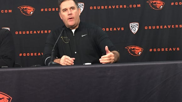 Kevin Clune was formally  introduced as Oregon State's new defensive coordinator on Friday, Jan. 8, 2016.