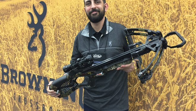 Browning Pro Staff member Jeremy Tudor with the soon to be released OneSixTwo crossbow, one of the most recent entries into the growing crossbow market.