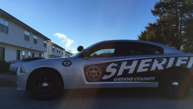 A sheriff's deputy car