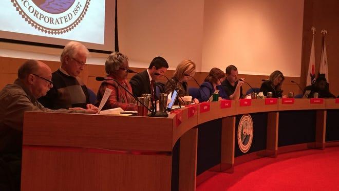 Port Huron City Council members on Monday, Jan. 11.