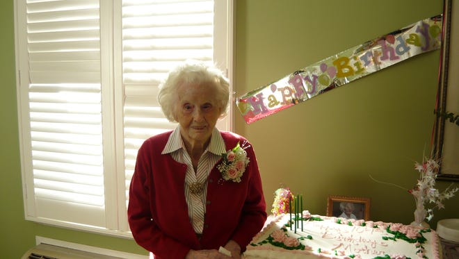 Mamie Johnson celebrates her 104th birthday. Johnson turned 110 on Wednesday.