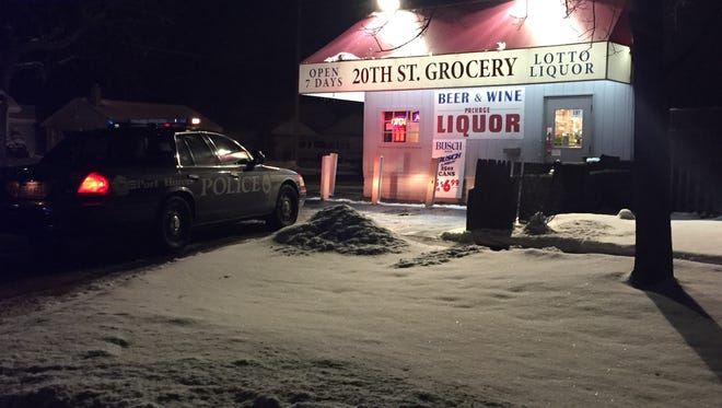 One person is in custody following a robbery at the 20th St. Grocery in Port Huron Thursday night.