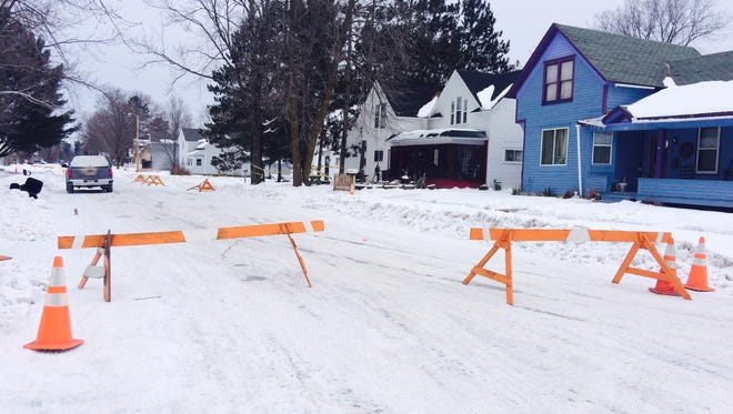 Merrill police closed off the 500 block of Wisconsin Street in Merrill Wednesday