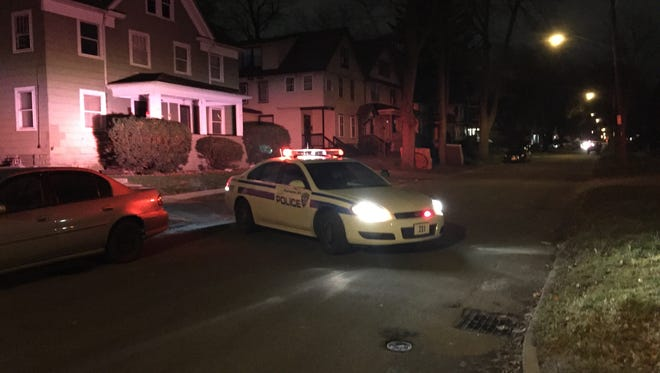 Rochester police investigate a shooting on Ravine Avenue  on Saturday night.