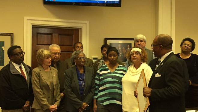 Mayor Johnny DuPree and Hattiesburg City Council honor the family of slain civil rights worker Vernon Dahmer during Tuesday's council meeting.