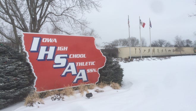 Iowa High School Athletic Association office in Boone on Wednesday, ahead of January 2016 board of control meeting.