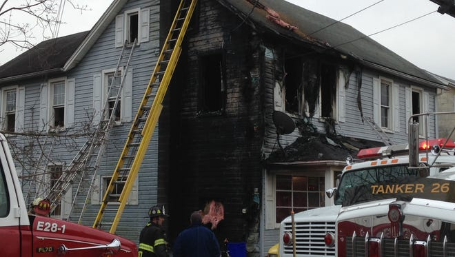 A house fire in Conewago Township displaced a family of 12.