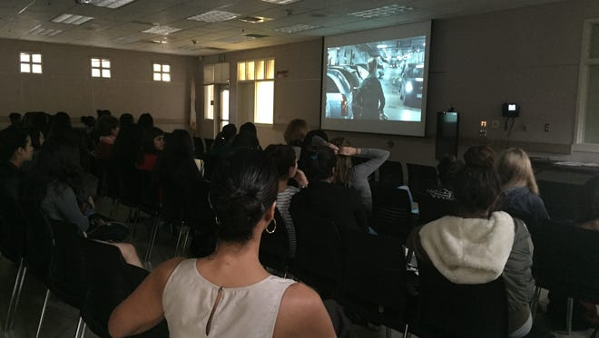 Students at Palm Springs High School got a sneak peak at the six LUNAFEST short films Thursday as part of a partnership with the Soroptimist of Palm Springs and La Quinta. The films were screened for free at the high schools in Palm Springs Unified School District ahead of the film festival on Jan. 30.