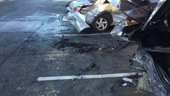 A Glendale teen is accused of crashing into seven vehicles on Jan. 21, 2016.