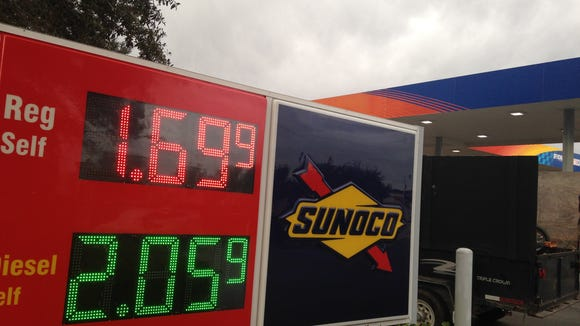 Gas prices continue to fall but other liquids are going up.