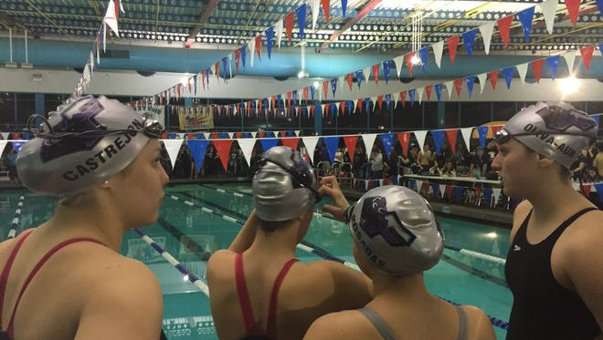 The Franklin girls 400 freestyle relay team won the event with a time of 3:45.28.