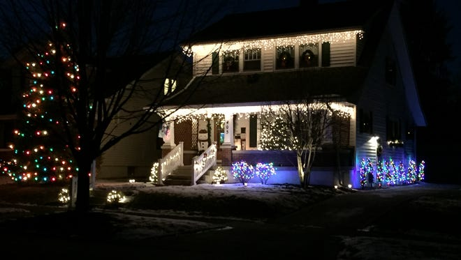 A pretty display of Christmas lights in Oakwood, Ohio, on Jan. 23, 2016.