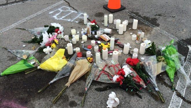A shrine to Logan Stephenson was set up at Greenbrier High School following his death last week.