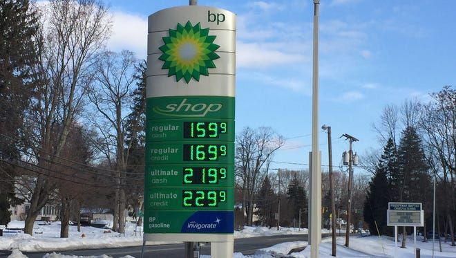 Gas prices are still low at the BP station on Littleton Road in Parsippany on Jan. 27, 2016