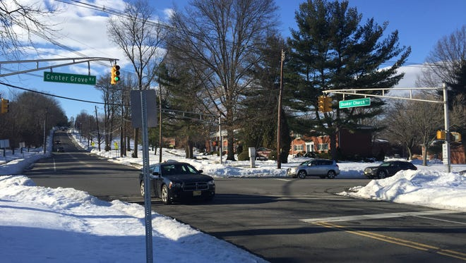 The busy corner of Center Grove and Quaker Church roads in Randolph, which will receive $339,000 worth of improvements in 2017 paid for in federal funds.