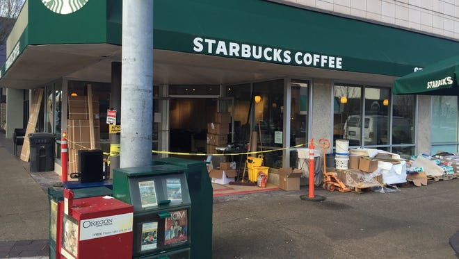 The Starbucks at the corner of Liberty and Court streets NE in downtown Salem is closed for remodel.