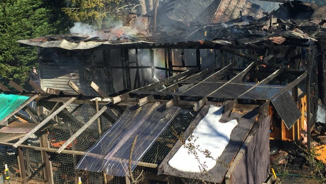 A fire destroyed a home on South Morgan Branch Road Friday afternoon.