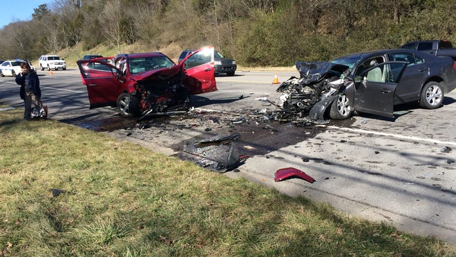 The accident was reported at the intersection of Old Springfield Highway and Springfield Hwy.