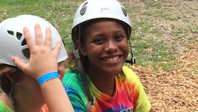A camper at a Licking County Family YMCA program.