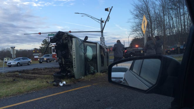 A crash occurred Feb. 3 on Route 50.