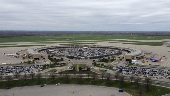 A terminal building at Kansas City International Airport.