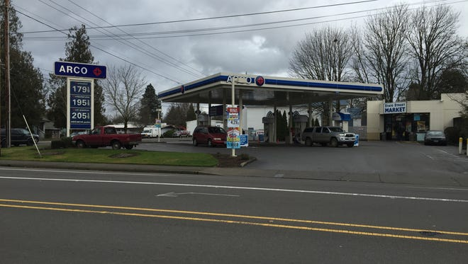 An ARCO gas station at State Street and 17th Street NE was one of many stations selling regular gas for under $2 a gallon.