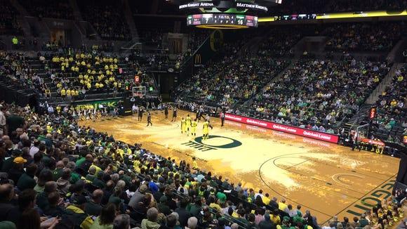 The Oregon men's basketball team hosts Colorado on Thursday night.