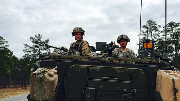 Sgt. Dallas Reynolds, left, of Savannah, Ga., and Spc. Jeffrey Hall, of Terre Haute, Ind., are part of Bravo Company, 3rd Battalion, 41st Infantry Regiment.