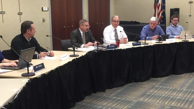 The joint board of Purdue University representatives and West Lafayette representatives hosted a public hearing Thursday for input about the State Street Project.