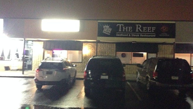 The Reef restaurant when it was raided by the Department of Safety and Homeland Security.
