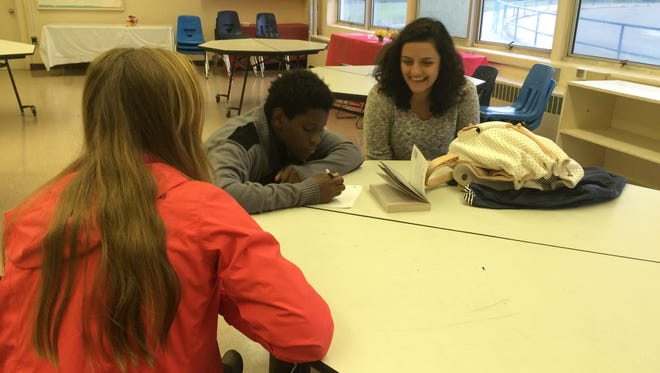 Florida State University scholars tutor students at Cater-Parramore Academy, an alternative school in Gadsden County.