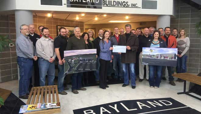 The Wisconsin Agricultural Education Center has received a $100,000 gift from Bayland Buildings for its state-of-the-art educational center being built in Manitowoc County.
