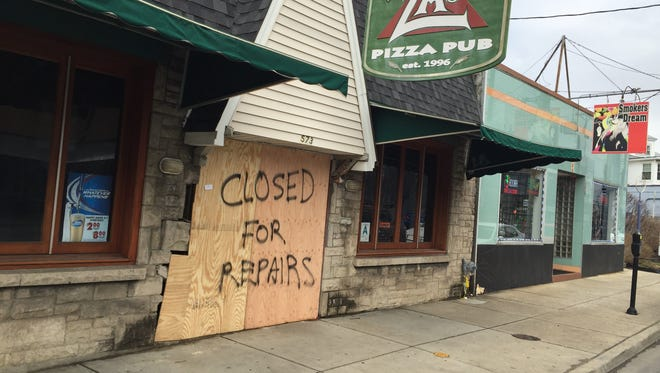 Za's Pizza Pub is closed for repairs after a driver crashed into it on Saturday night.