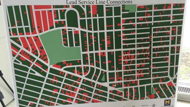 University of Michigan-Flint researchers completed a month-long compilation of information about lead service lines in the city of Flint. Picture here is what lead lines look like in one city neighborhood