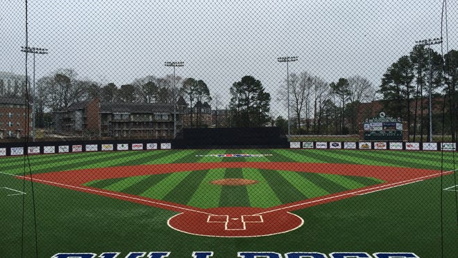 Pictured is Louisiana Tech's new baseball turf field that was completed in January. The Bulldogs open the season on the new field Tuesday against Arkansas-Little Rock.